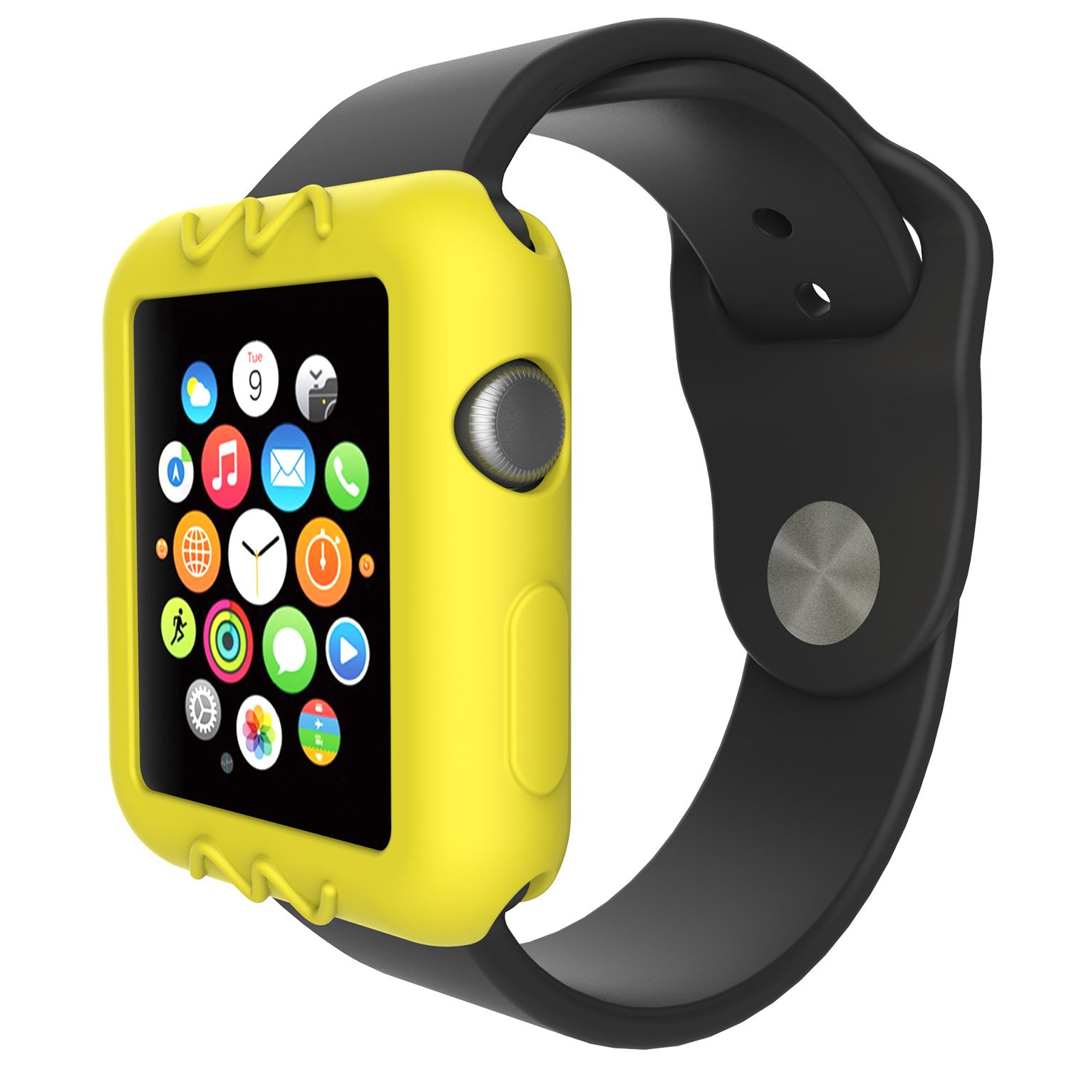 for Apple Watch 38mm Protective Case, Replacement Silicone Soft Case Cover for Apple Watch Series 3 2 1 Smartwatch (10Pack)