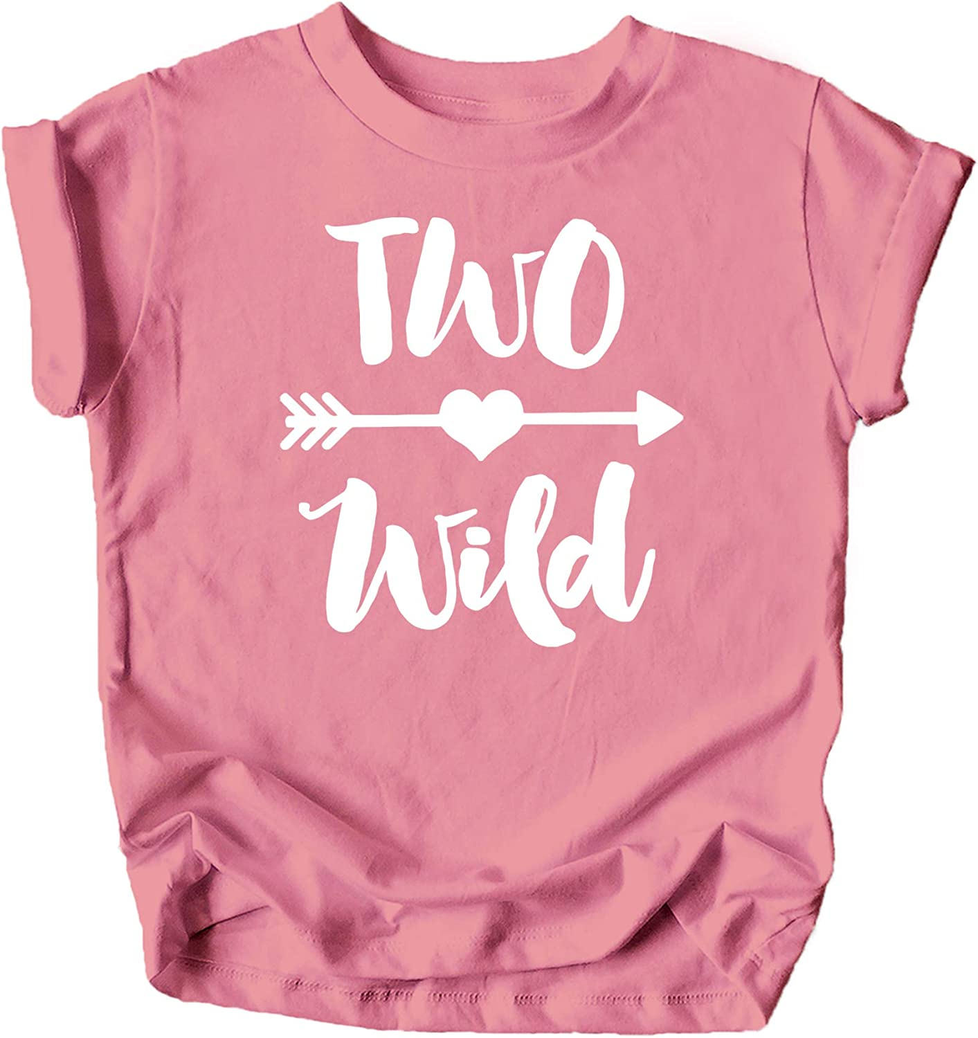 Olive Loves Apple Two Wild 2nd Birthday Girls Shirt for Toddler Girls Second Birthday Outfit