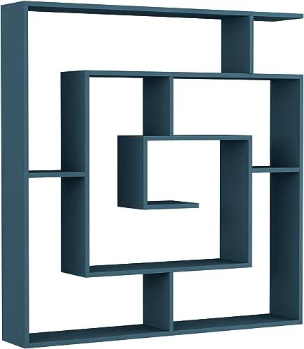 Best modern bookcase: Ada Home Decor Briscoe Modern Turquoise Bookcase 50.2'' H x 49.2'' W x 8.66'' D/Shelving Unit/Bookshelf