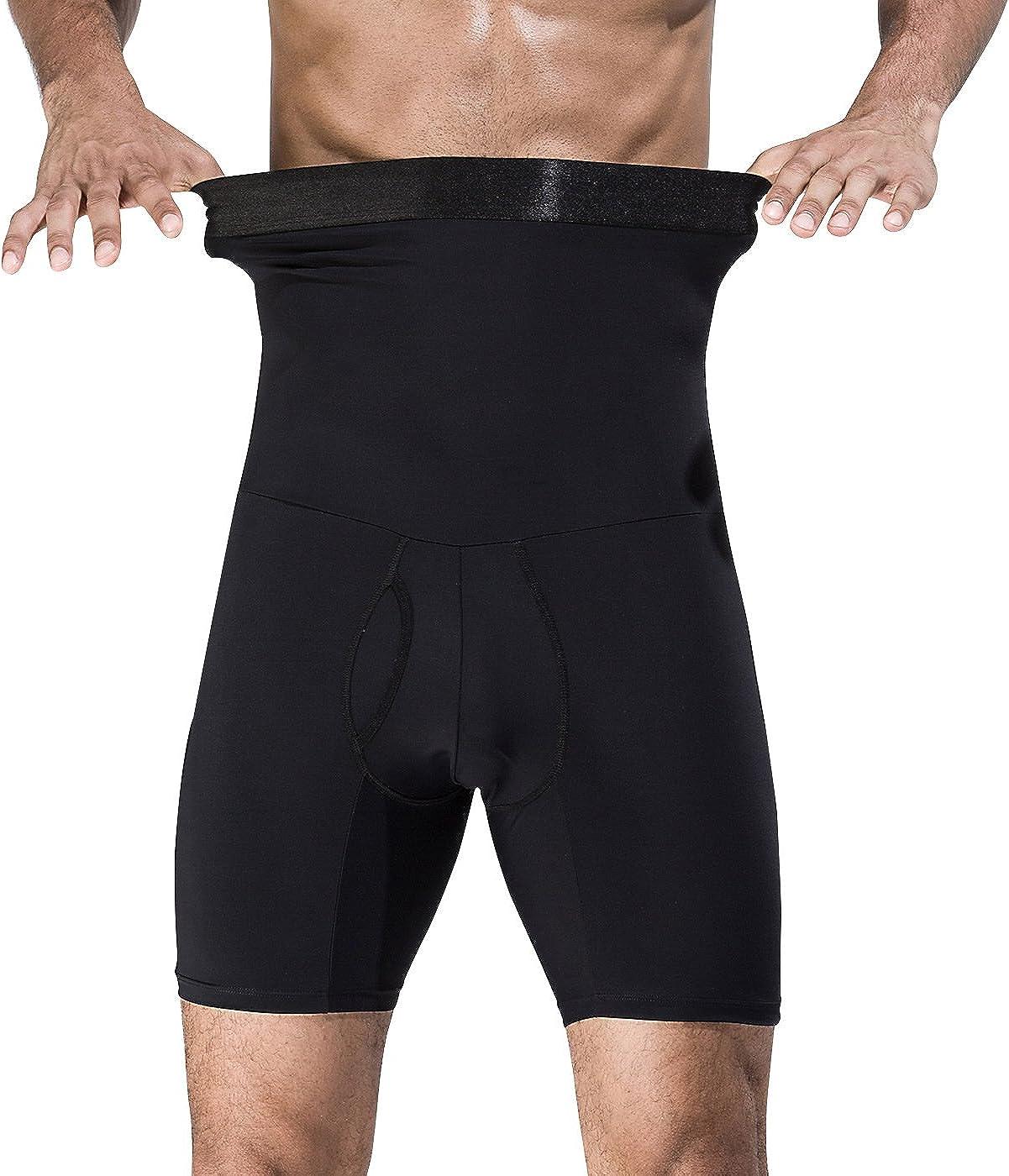 Panegy - Calzoncillos Bóxer con Faja Reductora para Hombre Ropa Interior Moldeador Pantalones Adelgazante Suave Transpirable Shapewear for Man