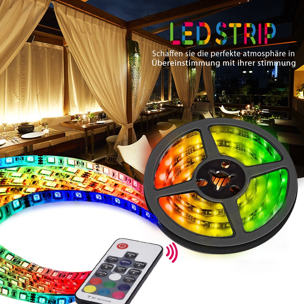 VORSTEK TV LED Light Strip,TV Backlight Strip 6.56ft/2M for 40inch-65inch HDTV 5550 USB LED TV Strip Lights Kit 60 Beads with 17 Key IR Remote,Waterproof Changing Color Strip Kit (Reduce Eye Fatigue) by VORSTEK