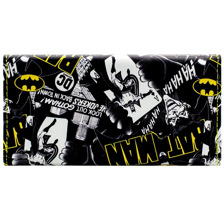 DC Batman Jokers in der Stadt Schwarz Portemonnaie Geldb/örse
