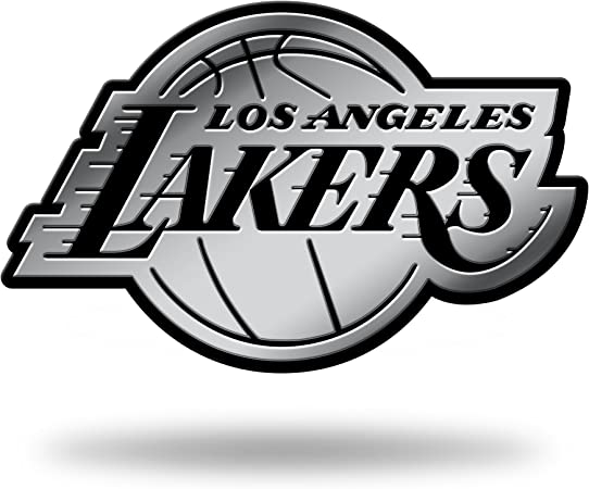 Rico Industries Nba Los Angeles Lakers 3d Chrome Finish Sticker Sport Freizeit