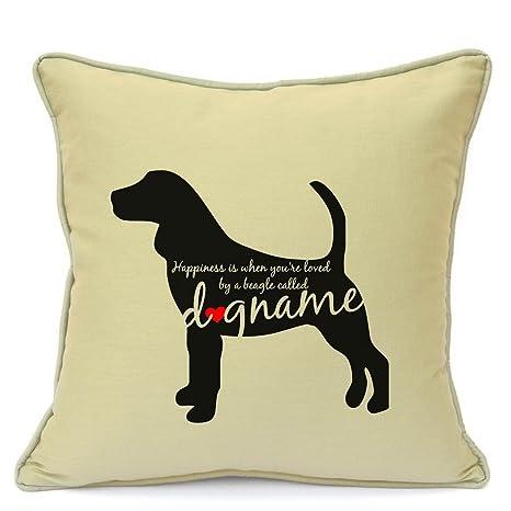 Beagle perro regalo personalizado funda para cojín para ...