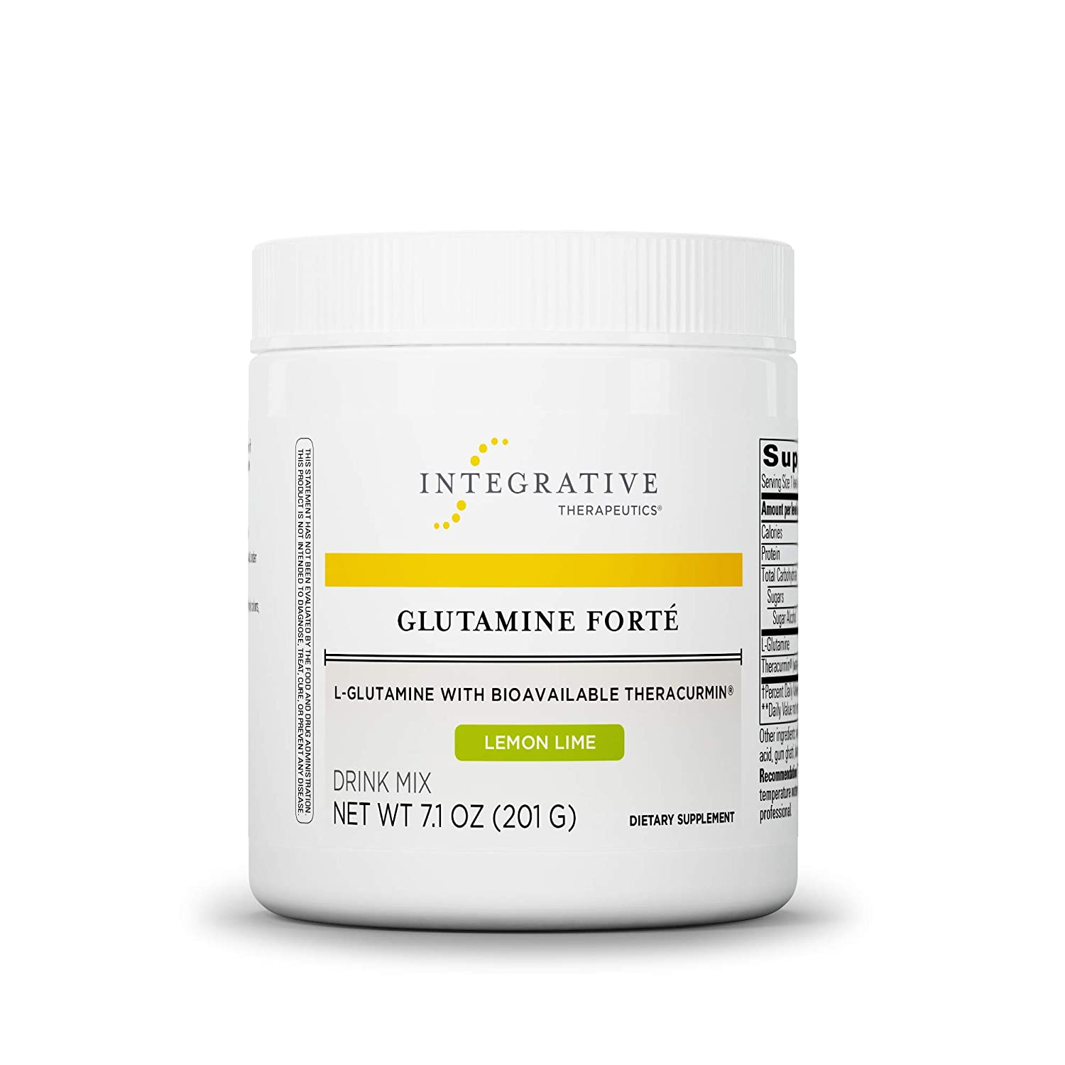 Integrative Therapeutics – Glutamine Fort – L-Glutamine with Bioavailable Theracurmin – Lemon Lime Flavor – 7.1 oz