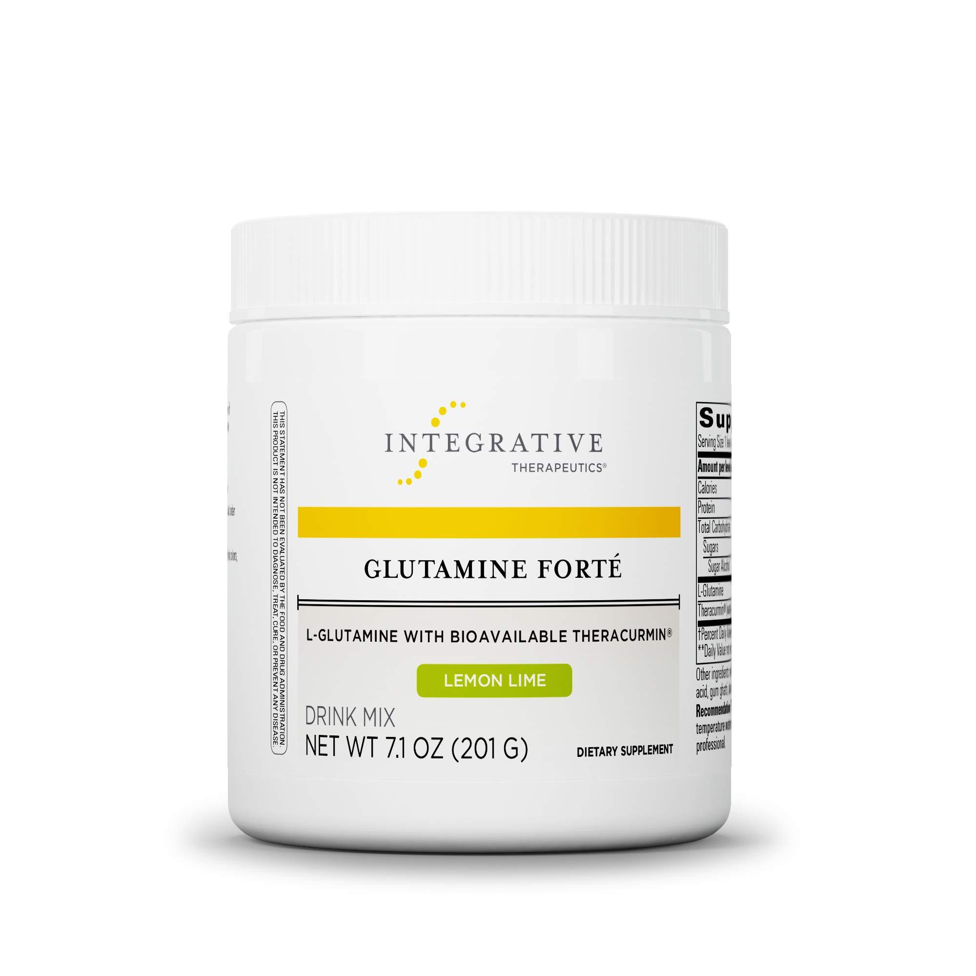 Integrative Therapeutics - Glutamine Forté - L-Glutamine with Bioavailable Theracurmin - Lemon Lime Flavor - 7.1 oz by Integrative Therapeutics