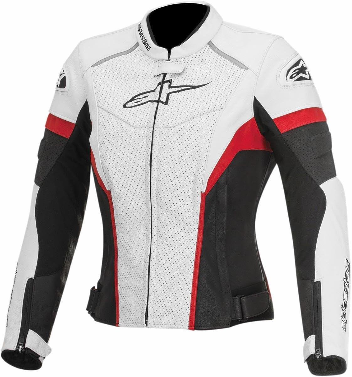 Alpinestars Gp Plus R Perforated Damen Street Motorrad Jacken Weiß Schwarz Rot Auto