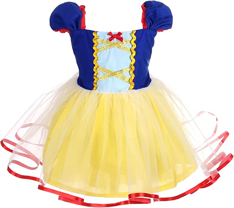 aa81c40a26133 Dressy Daisy Baby Girls Princess Snow White Dress Costumes for Baby Girls  Halloween Fancy Party Dress