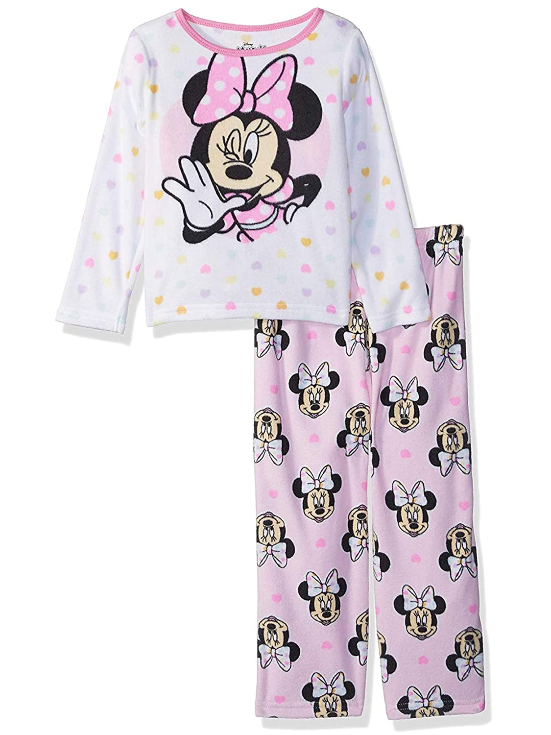 Amazon.com  Minnie Mouse Toddler Girls Fleece Pajamas Set  Clothing bf8748ba4