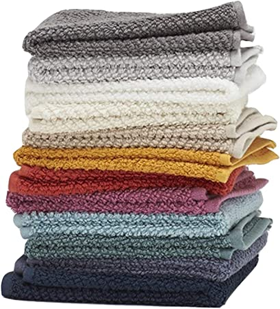 Amazon Com Washcloths 12 Pack 100 Extra Soft Ring Spun Cotton Wash Cloth Size 13 X 13 Soft And Absorbent Machine Washable Vibrant Assorted Colors Home Kitchen