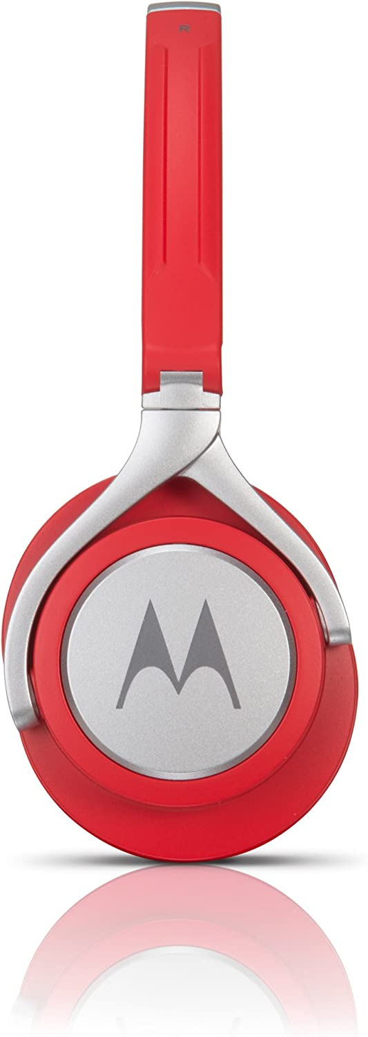 Motorola Pulse 2 Ultra Lightweight On-Ear Wired Headphones with In-Line Microphone Black