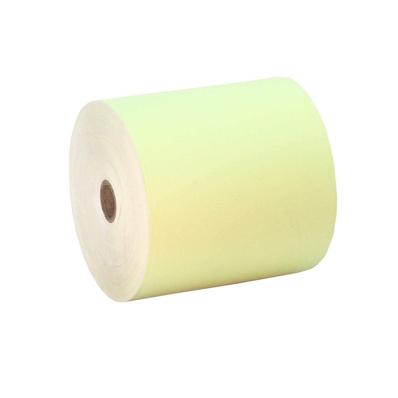 10 Rollos 80x80 Papel Térmico Color Amarillo: Amazon.es: Electrónica