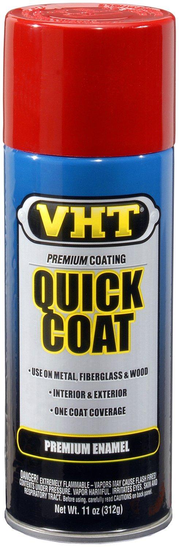 VHT (ESP501007-6 PK) Fire Red Quick Coat - 11 oz. Aerosol, (Case of 6)