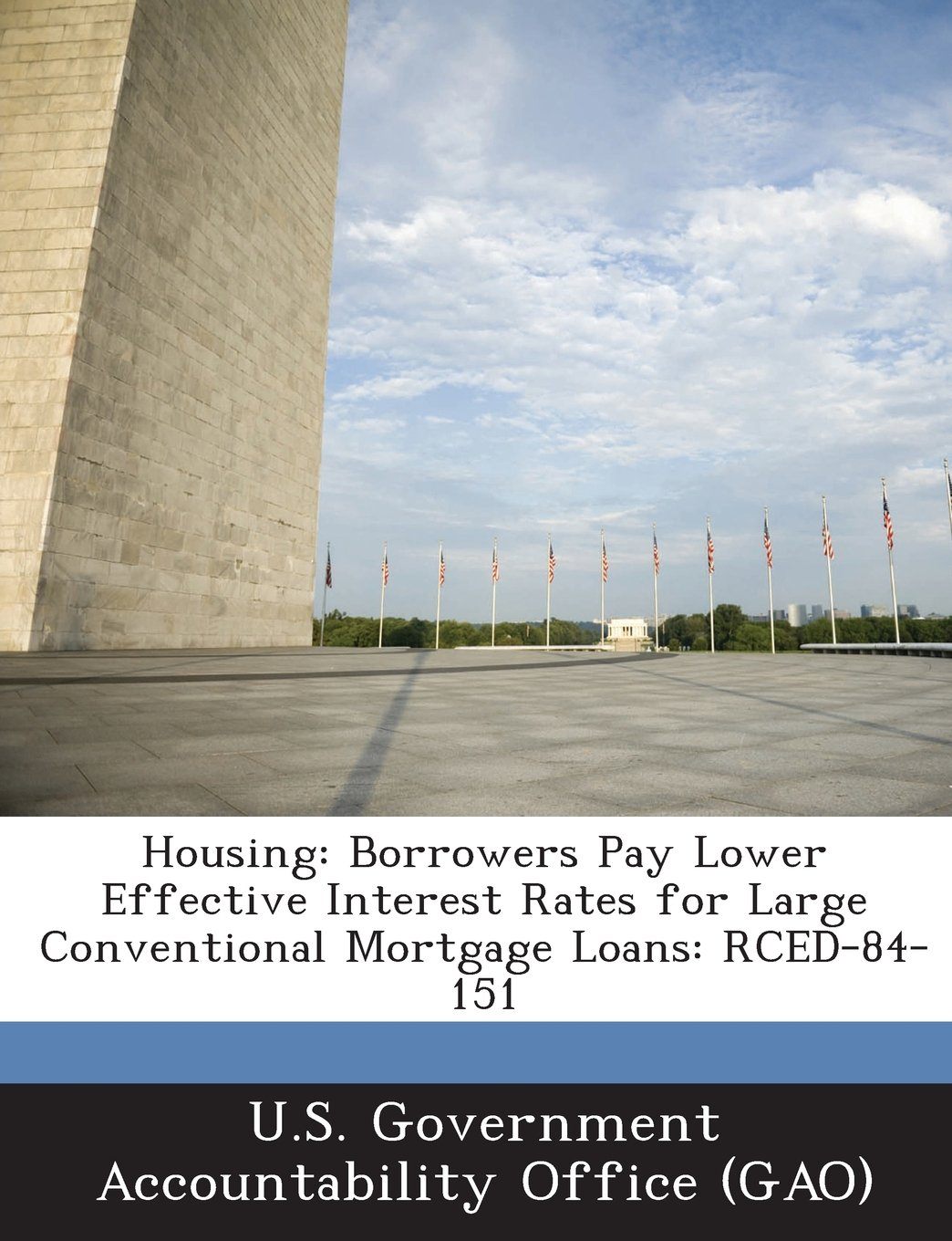 Housing: Borrowers Pay Lower Effective Interest Rates for Large Conventional Mortgage Loans: Rced-84-151 PDF ePub fb2 book