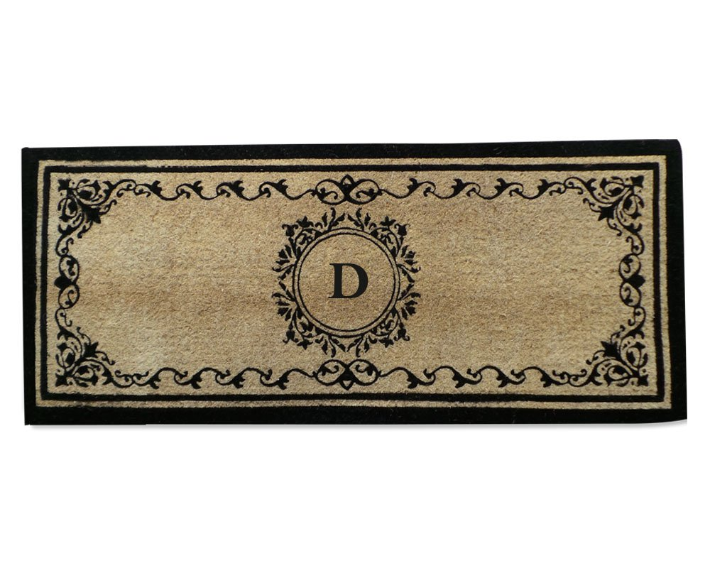 Coco Fibre Extra Thick Double Doormat-Monogrammed,A1HOME200061-D by A1 Home Collections