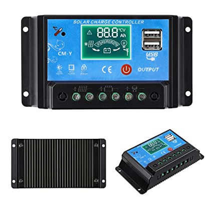 For Panel Use 480W Pwm 20A Power Inverters Solar Controller 20Amp Dc 12V//24V