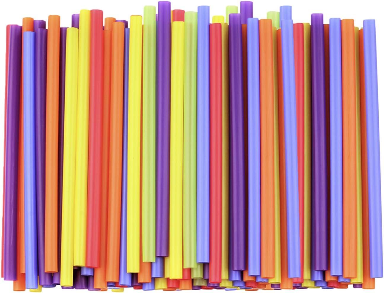 [200 Pack] Jumbo Smoothie Straws - 8.5