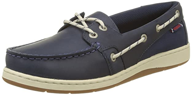 Sebago Damen Maleah Two Eye Bootschuhe, Blau (Navy Leather), 41 EU