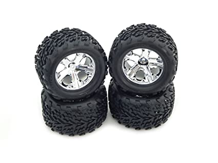 Amazon Com Traxxas 1 10 Stampede Tires And Wheels Traxxas 2 8