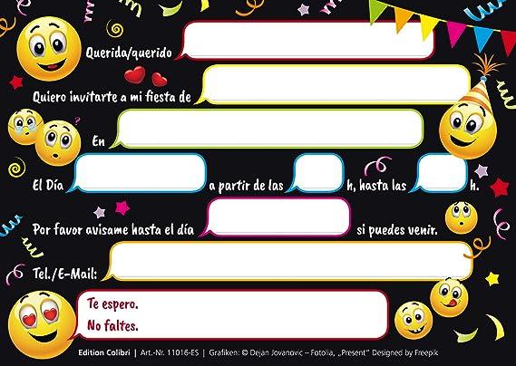 7280ce7bffd Edition Colibri 10 Invitaciones cumpleaños Infantil en español