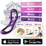 DeFiT Booty Band & Resistance Bands - Butt Workout Band - Set of Exercise Bands with Butt Band Belt, Unique iOS/Android App, Video Guide, eBooks, Nutrition Guide
