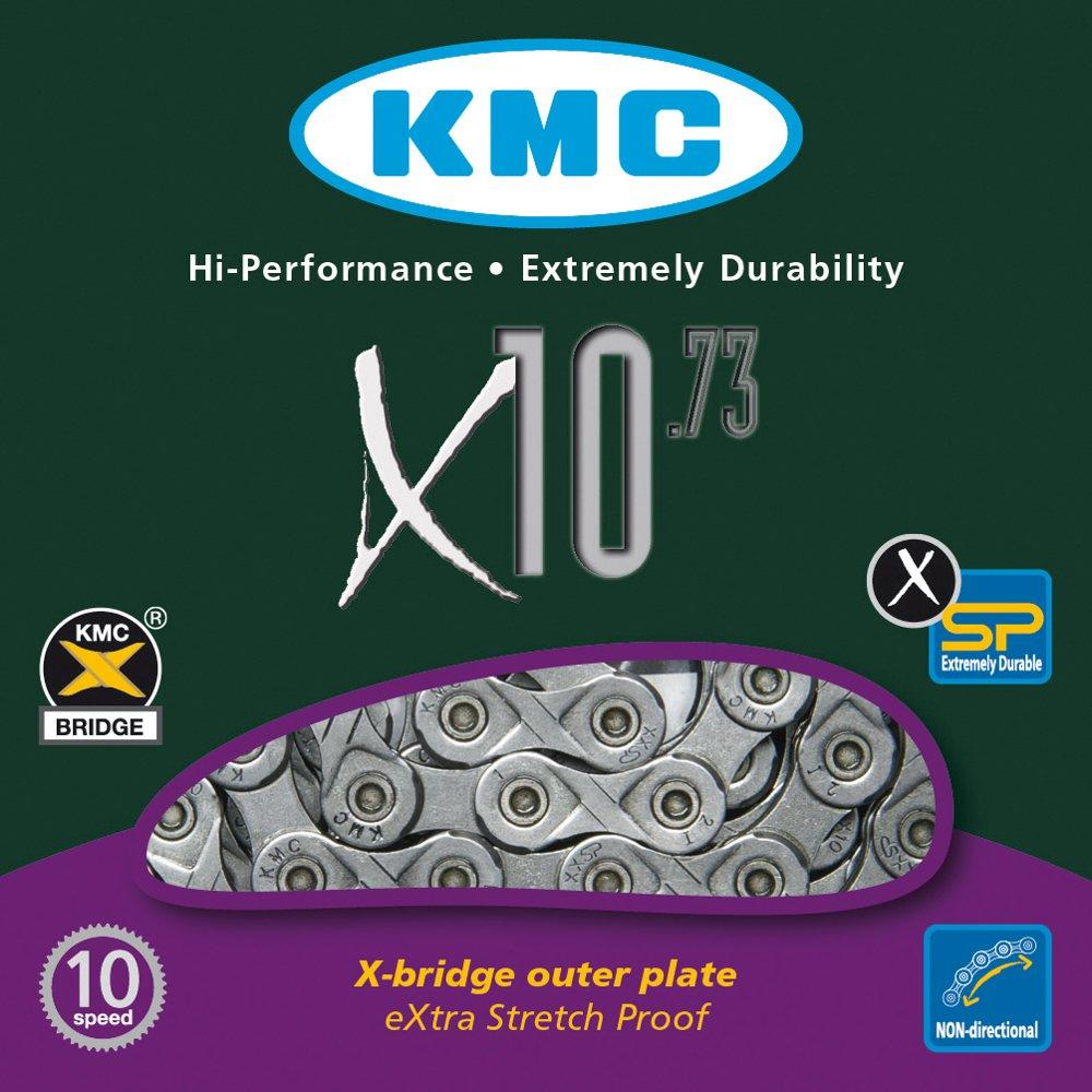 KMC Chain X-10-73 Cadena Estrecha, Unisex adulto, Gris, 114 eslabones 300868