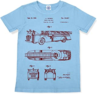 product image for Hank Player U.S.A. Fire Truck Patent Kid's T-Shirt