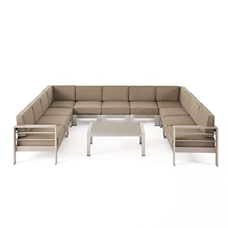Amazon.com : Great Deal Furniture Enid Outdoor 11 Seater ...