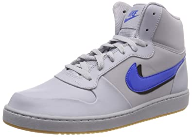 new product 12e4e 70872 Nike Ebernon Mid Prem, Sneakers Basses Homme - Multicolore (Wolf  Grey/Signal Blue
