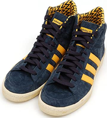 04d67dc0ba47 adidas Originals AO Hook Shot II W Suede Navy Blue and Yellow Sneakers  Women s (11
