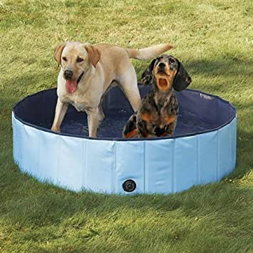 Dog Bathtub, PYRUS 63 X 11.8 Inches Collapsible Pet Bath Pools Inflatable Dog  Bathtub Foldable