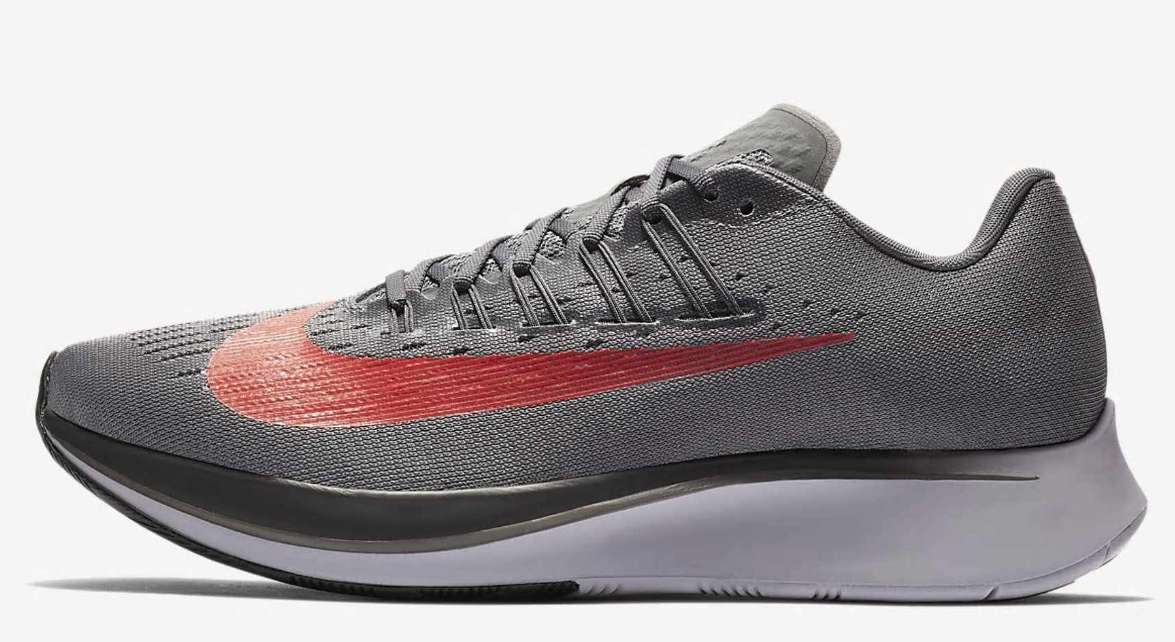 096a1f0dbc0e Galleon - NIKE Men sZoom Fly Running Shoe Gunsmoke Bright Crimson-Thunder  Grey 13.0