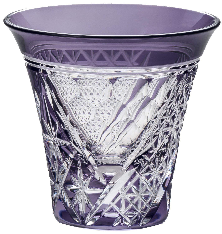 東洋佐々木ガラス 冷酒グラス パープル 85ml 八千代切子 杯 束ね熨斗柄 日本製 LS19755SP-C690 B00S94TM2Q