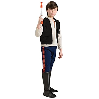 Rubie's Star Wars Classic Child's Deluxe Han Solo Costume, Large: Toys & Games