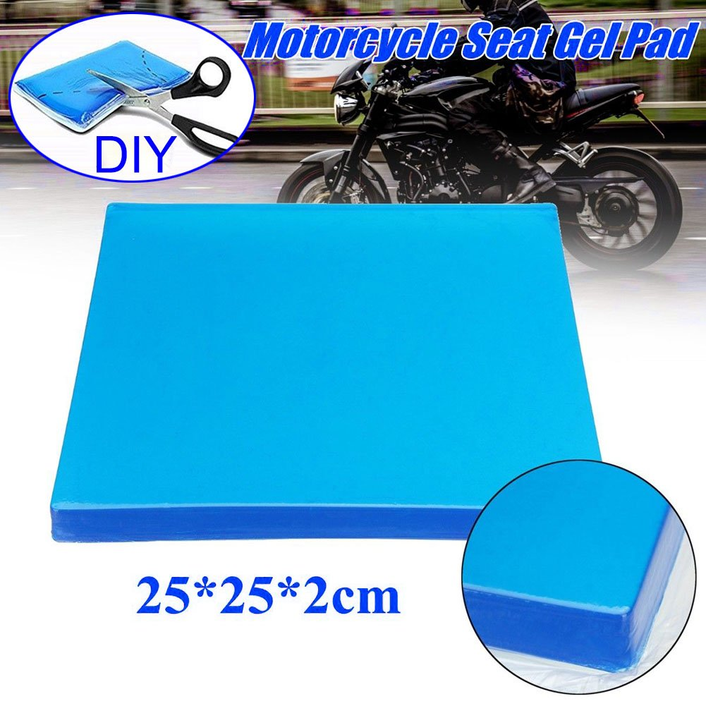 MAyouth Motorcycle Seat Cushion,Comfort Motorcycle Seat Gel Pad Shock Absorption Mats Cushion Accessories