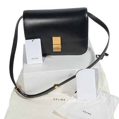Céline Women s Black Classic Calfskin Shoulder Crossbody Bag  Amazon ... 6623e952765d7