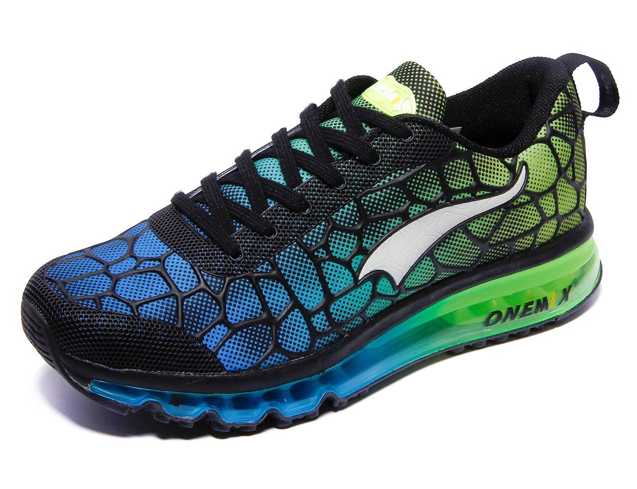 ONEMIX Women's Air Cushiong Running Shoes,Lightweight Sport Athletic Sneakers B07C6VN94J Men 6.5(M)US 39EU/women 8(M)US 39EU|Sky Blue/Green