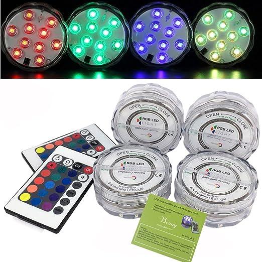 3 opinioni per Bcony RGB Sommergibile Luce LED con Telecomando,Multi Color impermeabile
