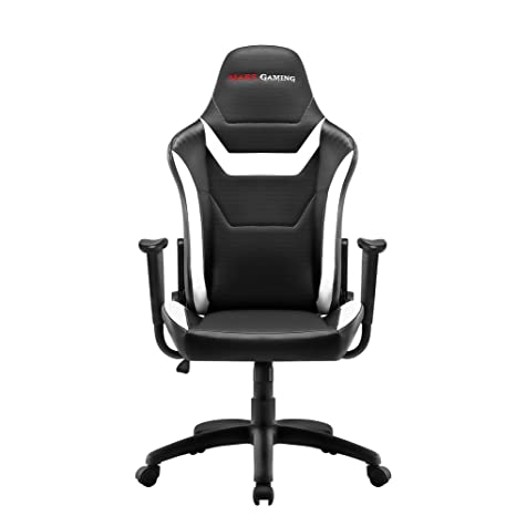 Mars Gaming MGC218 - Silla profesional, tecnología AIR, reclinable 180°, blanco