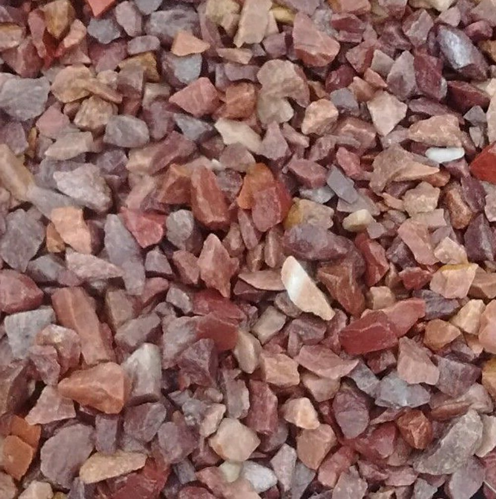 Safe & Non-Toxic {Various Sizes} 15 Pound Bag of Gravel, Rocks & Pebbles Decor for Freshwater & Saltwater Aquarium w/ Natural Rustic Earth Toned Polished Smooth River Style [Tan & Red] by mySimple Products