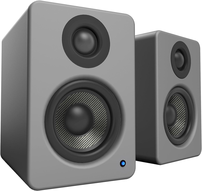 Kanto Audio Yu2 Powered Desktop Speakers Bamboo Active PC Mac USB