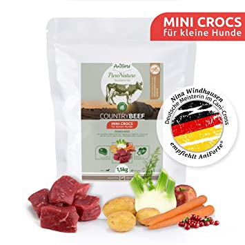 NUEVO aniforte 100% Natural trockenfutter Natural de perros Forro getreidefrei Country Beef 1,5