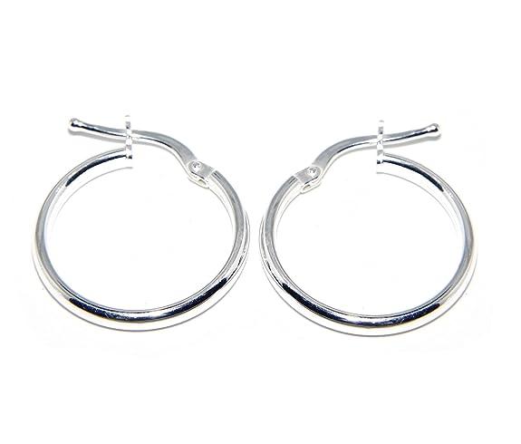 2 opinioni per Argento 925 : orecchini donna anelle cerchi boccole lisce classiche 19 mm 3