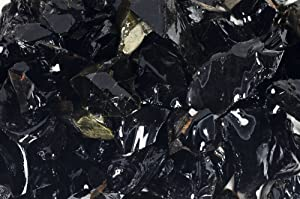 Fantasia Materials: 1 lb of Black Obsidian Rough Stones from Mexico - Raw Natural Volcano Glass