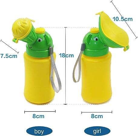 Minzione Dispositivo Portatile di Emergenza orinatoio vasino WC B per Bambini utilizzato per Auto Viaggio Campeggio e attivit/à all Aperto 500 ml a Tenuta Bambino Kid Potty Pee Training