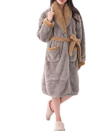 Mens And Ladies Soft Warm Bath Robe Coral Cashmere Gray Bathrobes Hotel Spa  Shower Robe Fashion cbb6bec75