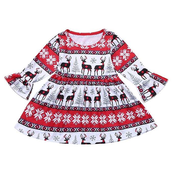 INNEROSE ❤ Abito di Stampa di Natale per Neonati Abbigliamento Neonato  Vestiti f4154f23658a