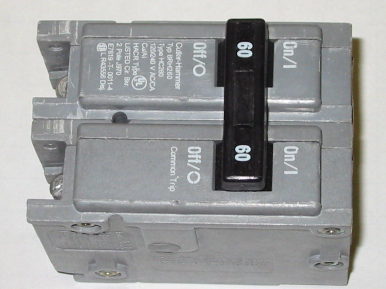New BRH260 Eaton Cutler Hammer Circuit Breaker 2 Pole 60 Amp 120//240V