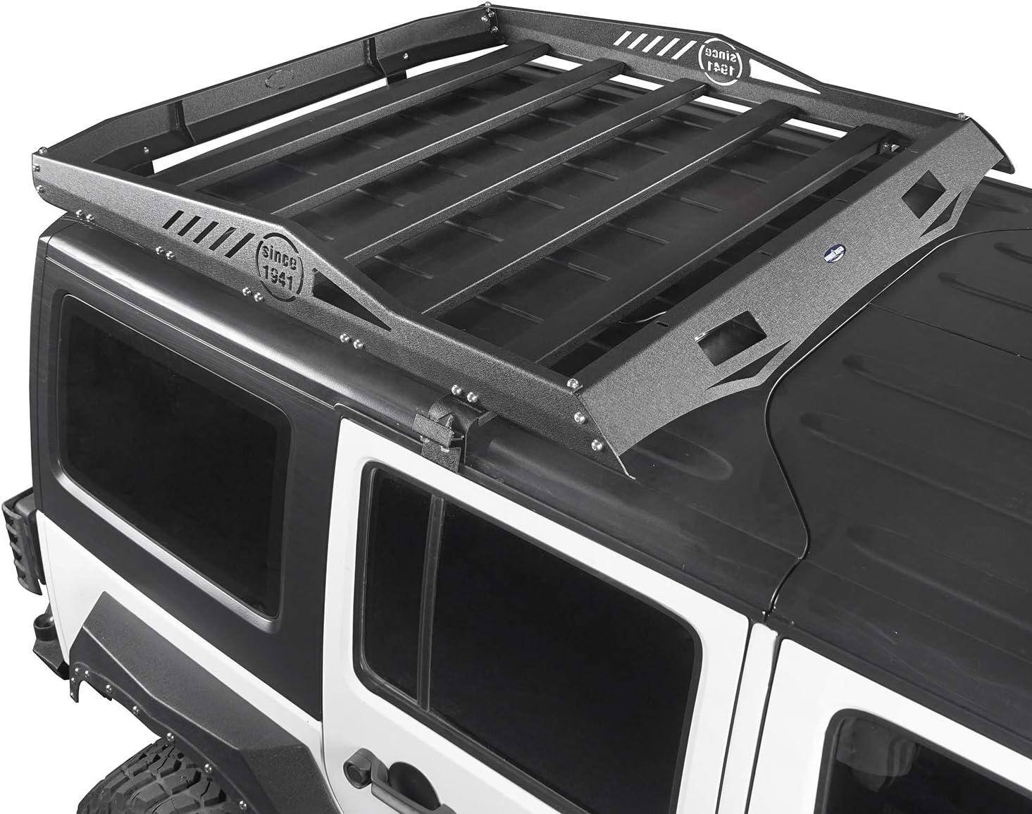 Hooke Road Jeep Wrangler JK Hard Top Roof Rack Cargo Carrier Luggage Basket for 07-18 Jeep Wrangler JK /& Unlimited