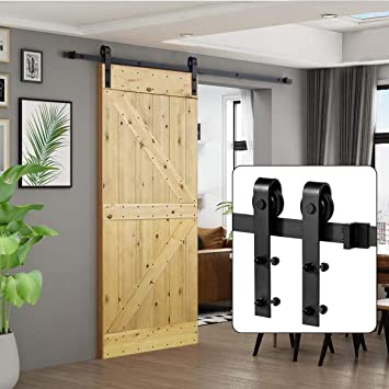 Umax 6.6 Ft Sliding Barn Wood Door Basic Sliding Track Hardware Kit by UMAX: Amazon.es: Bricolaje y herramientas